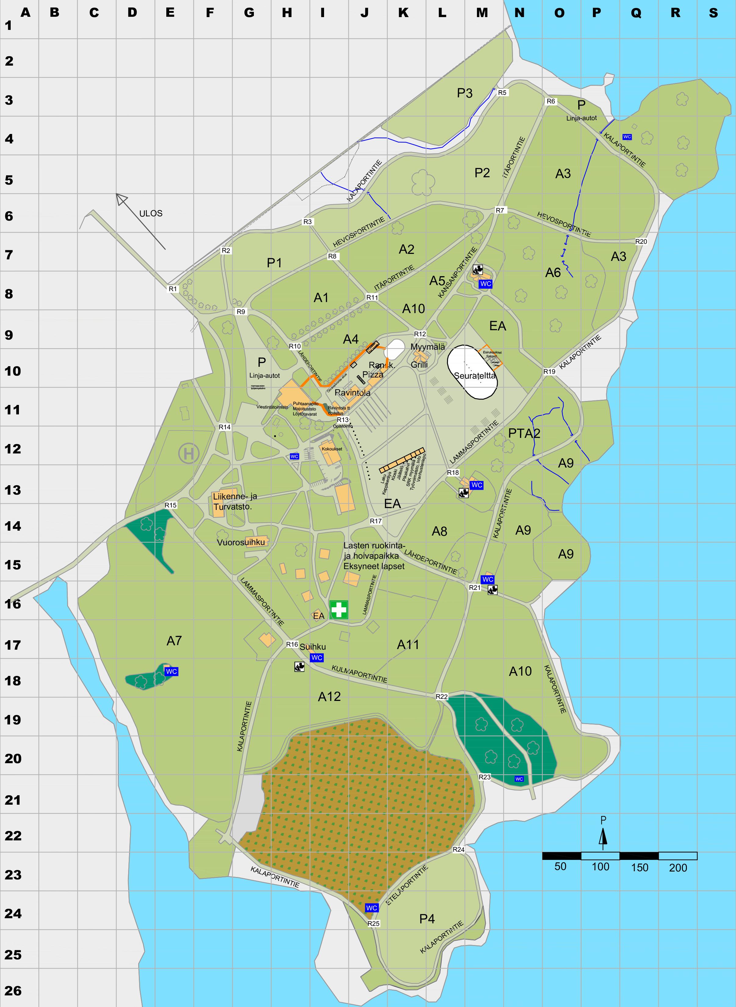 Kartat Jamsan Opistoseurat